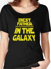 Best Father in the Galaxy - Title Crawl Women's Relaxed Fit T-Shirt