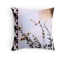 Powder Blue Orchid Poppies Throw Pillow