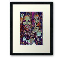 Janet puzzle Framed Print