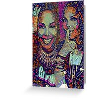 Janet puzzle Greeting Card