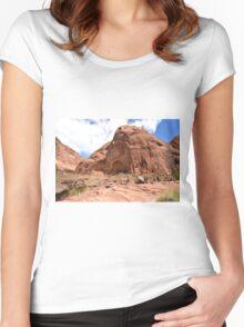 Rainbow Bridge Monument Park Women's Fitted Scoop T-Shirt