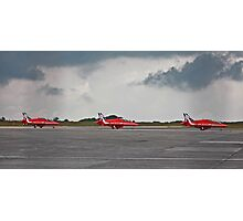 Red Arrows arriving at Classic Air Force  museum Photographic Print