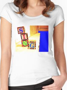 Sing! Baby Blocks Women's Fitted Scoop T-Shirt
