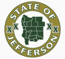 State of Jefferson (outline) by AmericanVenom