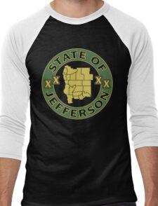 State of Jefferson (outline) Men's Baseball ¾ T-Shirt