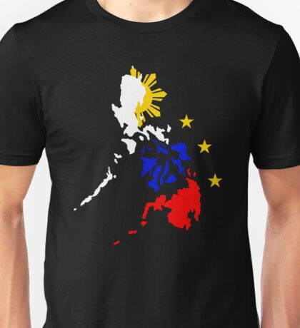 Map of Philippines with 3 Stars and Sun Unisex T-Shirt