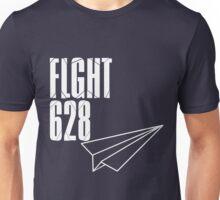 Flight 628: White Unisex T-Shirt