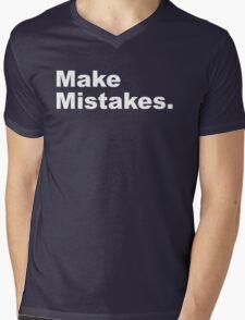 Make Mistakes Mens V-Neck T-Shirt