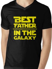 Best Father in the Galaxy Mens V-Neck T-Shirt