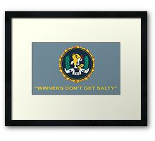 Winner's Don't Get Salty Framed Print