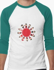 Flamenco world Men's Baseball ¾ T-Shirt