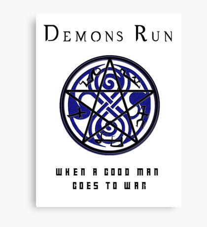 SuperWHO - Demons Run Canvas Print