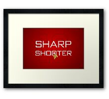 Sharp Shooter Framed Print