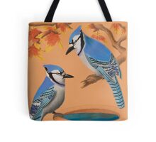 Blue Jays In Fall Tote Bag