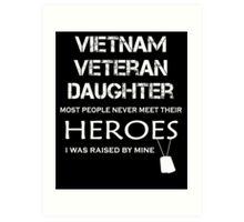 Vietnam veteran daughter tshirt Art Print