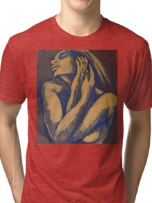 Emotional - Female Nude Portrait Tri-blend T-Shirt