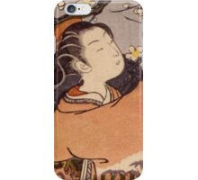 Suzuki Harunobu - Breaking Off A Plum Branch1767. Woman portrait:  geisha ,  women,  courtesan,  fashion,  costume,  kimono,  hairstyle,  headdress,  parasol,  mirror,  maid iPhone Case/Skin