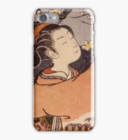 Suzuki Harunobu - Breaking Off A Plum Branch1767. Woman portrait:  geisha ,  women,  courtesan,  fashion,  costume,  kimono,  hairstyle,  headdress,  parasol,  mirror,  maid iPhone Case/Skin