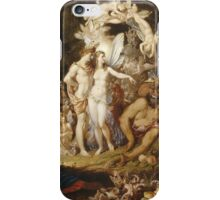 Sir Joseph Noel Paton - The Reconciliation Of Oberon And Titania. Fairy painting: fairy, fairies, nymph, nymphs, child, baby , dwarves, dwarf , elf , elves, goblin  iPhone Case/Skin
