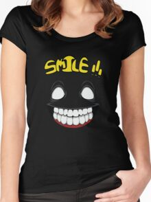 Just Smile Women's Fitted Scoop T-Shirt