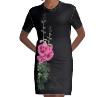 Pink floral, watercolors Graphic T-Shirt Dress