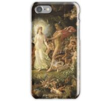 Sir Joseph Noel Paton - The Quarrel Of Oberon And Titania 1849. Fairy painting: fairy, fairies, nymph, nymphs, child, baby , dwarves, dwarf , elf , elves, goblin  iPhone Case/Skin