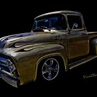 Flaming Ford Pickup at the Midnight Special by ChasSinklier