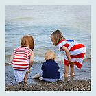 Grandchildren at the Beach by Robert Kelch, M.D.