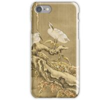 Shen Nanpin - Album Of Birds And Animals (Cranes). Forest view: forest , trees,  fauna, nature, birds, animals, flora, flowers, plants, field, weekend iPhone Case/Skin