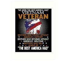 Veteran shirt Art Print