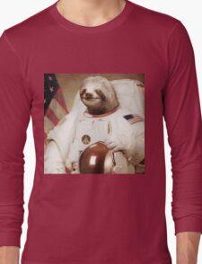 Astronaut Sloth Long Sleeve T-Shirt