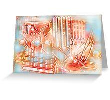 iron brew raku Greeting Card