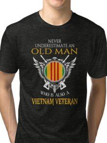 Old Man - Vietnam Veteran Tshirt Tri-blend T-Shirt