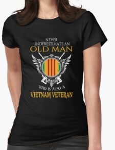 Old Man - Vietnam Veteran Tshirt Womens Fitted T-Shirt