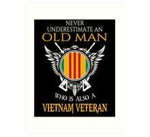 Old Man - Vietnam Veteran Tshirt Art Print