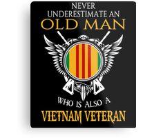 Old Man - Vietnam Veteran Tshirt Metal Print