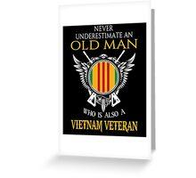 Old Man - Vietnam Veteran Tshirt Greeting Card
