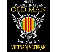 Old Man - Vietnam Veteran Tshirt Photographic Print