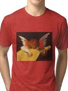 Rosso Fiorentino - Musical Angel 1522. Child portrait: cute baby, kid, children, angel, child, kids, lovely family, boys and girls, boy and girl, mom mum mammy mam, childhood Tri-blend T-Shirt