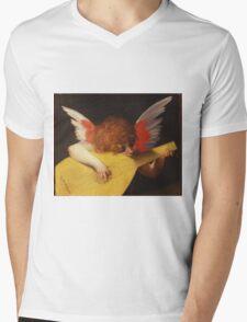 Rosso Fiorentino - Musical Angel 1522. Child portrait: cute baby, kid, children, angel, child, kids, lovely family, boys and girls, boy and girl, mom mum mammy mam, childhood Mens V-Neck T-Shirt
