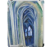 Robert Delaunay - Saint-Severin. Abstract painting: abstraction, geometric, expressionism, composition, lines, forms, creative fusion, music, kaleidoscope, illusion, fantasy future iPad Case/Skin
