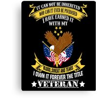 Veterans tshirt Canvas Print
