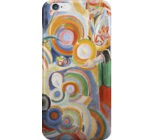 Robert Delaunay - Portuguese Woman. Abstract painting: abstraction, geometric,  Woman, composition, lines, forms, Portuguese , music, kaleidoscope, illusion, fantasy future iPhone Case/Skin