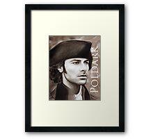 Aidan Turner - Ross Poldark - Pastel Portrait 2 Framed Print