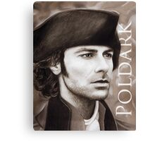 Aidan Turner - Ross Poldark - Pastel Portrait 2 Canvas Print