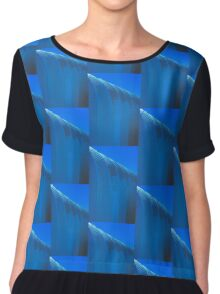 Linear Funtions  - Metal Building in Blue Version Chiffon Top