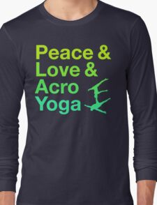 P&L&A.Y. (green) Long Sleeve T-Shirt