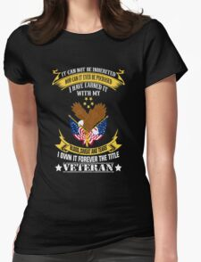 Veterans tshirt Womens Fitted T-Shirt