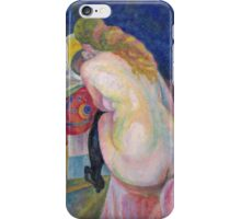 Robert Delaunay - Nude Woman Reading. Abstract painting: abstraction, geometric, Nude Woman, Reading, lines, forms, creative fusion, music, kaleidoscope, illusion, fantasy future iPhone Case/Skin