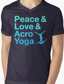 P&L&A.Y. (blue) Mens V-Neck T-Shirt
